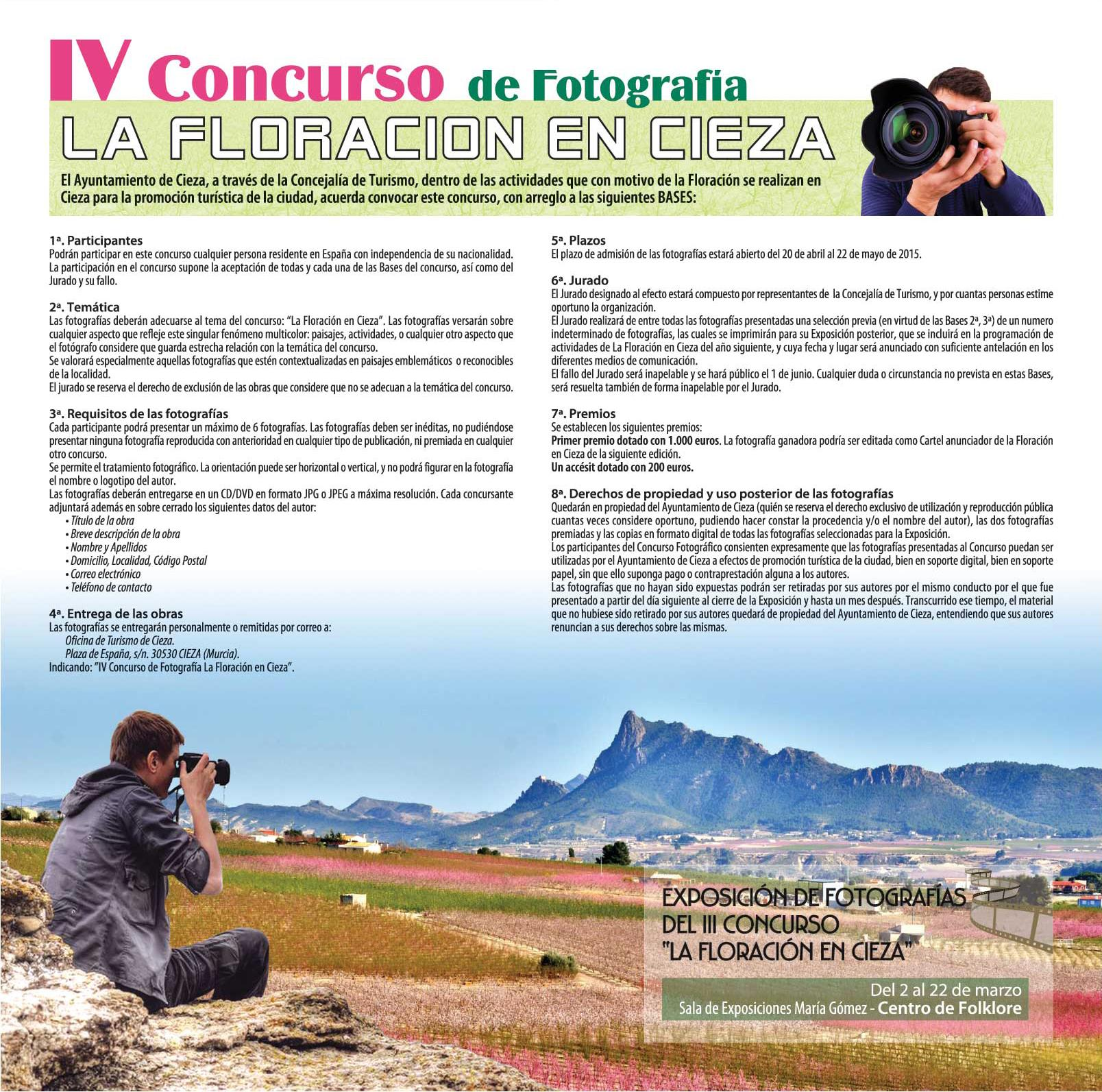 IV CONCURSO DE FOTOGRAFÍA DE LA FLORACIÓN DE CIEZA